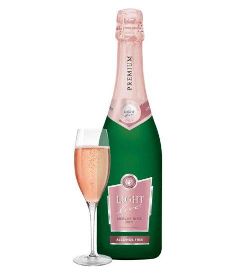 schuimwijn premium Merlot Rosé rose cava champagne sekt prosecco bubbels alcoholvrij zonder alcohol fles glas groot 75cl caloriearm weinig zonder calorieën