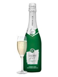 schuimwijn premium chardonnay wit cava champagne sekt prosecco bubbels alcoholvrij zonder alcohol fles glas groot 75cl caloriearm weinig zonder calorieën
