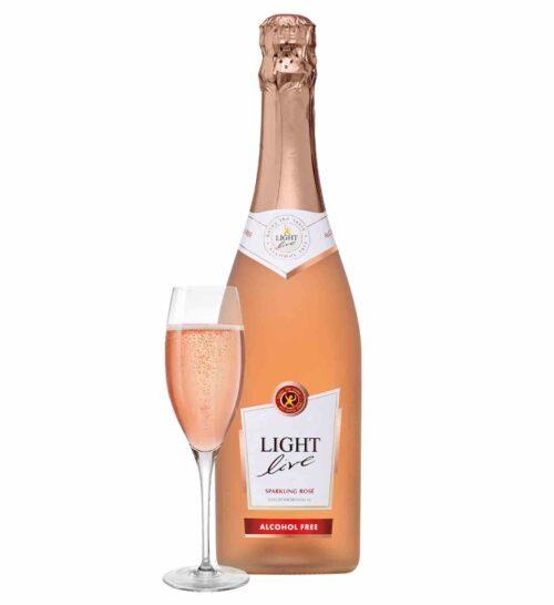 schuimwijn rosé rose cava champagne sekt prosecco alcoholvrij zonder alcohol fles glas klein 20cl caloriearm weinig zonder calorieën 75cl