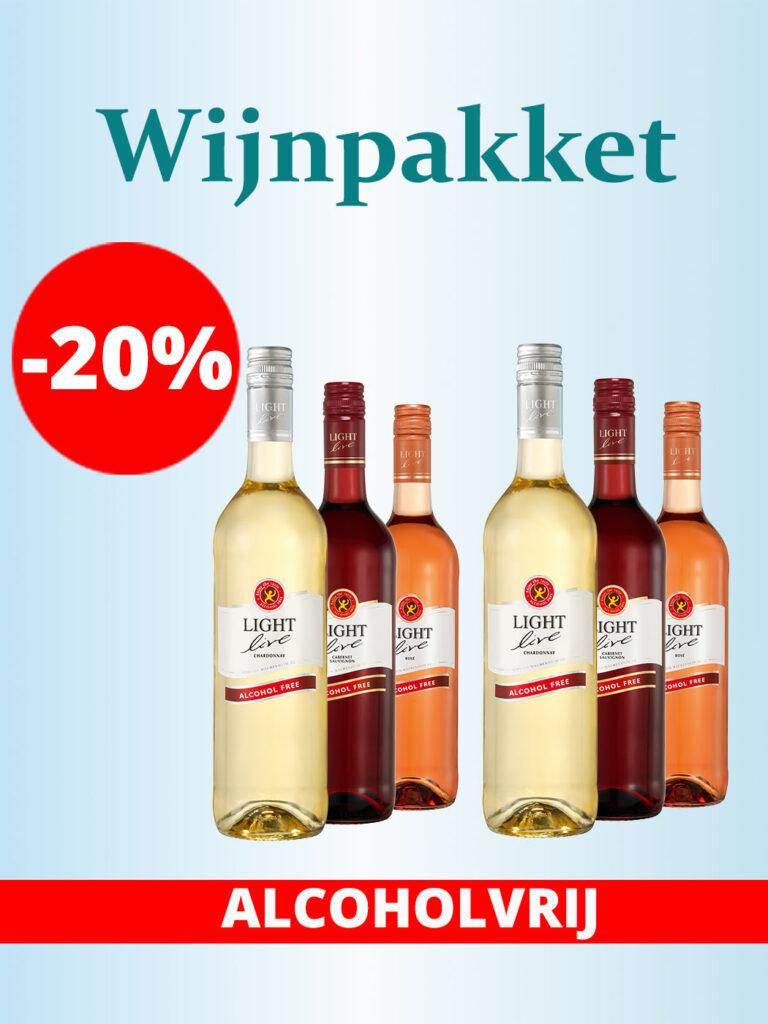 Proefpakket Wijn proeven testen alcoholvrij korting -20%