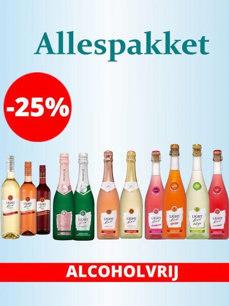 Proefpakket Wijn Schuimwijn Cocktail proeven testen smaken alcoholvrij